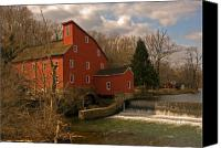 Clinton Photo Canvas Prints - Clinton Mill Canvas Print by Robert Pilkington