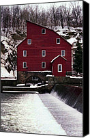 Clinton Photo Canvas Prints - Clinton Mill Canvas Print by Skip Willits