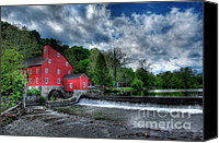 Clinton Photo Canvas Prints - Clinton Red Mill House Canvas Print by Lee Dos Santos