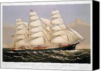 1875 Canvas Prints - Clipper Ship, 1875 Canvas Print by Granger
