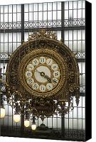 Time Piece Canvas Prints - Clock in the Musee dOrsay Canvas Print by Will & Deni McIntyre