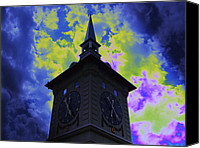 Featured Special Promotions - Clock Tower Night Canvas Print by Linda Francis