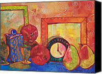 Impressionist Canvas Prints - Clock Work Canvas Print by Blenda Tyvoll
