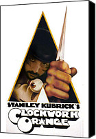 Kubrick Canvas Prints - Clockwork Orange Canvas Print by Alessandro Della Pietra
