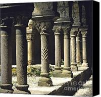 Faith Canvas Prints - Cloister of Lavaudieu. Haute Loire. Auvergne Canvas Print by Bernard Jaubert