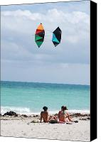 Kites Digital Art Canvas Prints - Close Encounters Canvas Print by Rob Hans