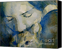 Singer Songwriter Painting Canvas Prints - Close my eyes Lullaby me to sleep Canvas Print by Paul Lovering