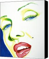 Marilyn Monroe  Canvas Prints - Close up Canvas Print by Holly Picano