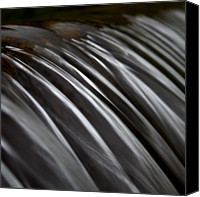 Long Canvas Prints - Close Up Of Waterfall Canvas Print by Photo by Anthony Thomas