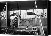 Bi Planes Canvas Prints - Close-up View Of A 1911 Wright Airplane Canvas Print by Everett