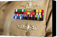 Merit Photo Canvas Prints - Close-up View Of Military Decorations Canvas Print by Stocktrek Images