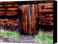 Log Cabin Art Canvas Prints - Closed and Forgotten Canvas Print by Joseph Noonan