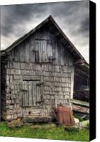 Barn Digital Art Canvas Prints - Closed For Business Canvas Print by Pete Hellmann