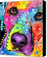 Dean Canvas Prints - CloseUp Labrador Canvas Print by Dean Russo