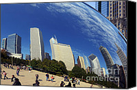 Skylines Canvas Prints - Cloud Gate Millenium Park Chicago Canvas Print by Christine Till
