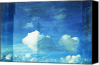 Parchment Canvas Prints - Cloud Painting Canvas Print by Setsiri Silapasuwanchai