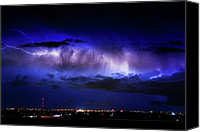 "\""striking Photography\\\"" Canvas Prints - Cloud to Cloud Lightning Boulder County Colorado Canvas Print by James Bo Insogna"