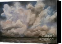 Storm Clouds Pastels Canvas Prints - Clouds Canvas Print by Caroline Peacock