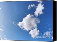Nature Photo Canvas Prints - Clouds on blue sky Canvas Print by Pixel Chimp