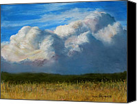 Storm Clouds Pastels Canvas Prints - Clouds Over the Meadow Canvas Print by Jack Skinner