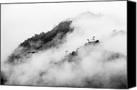 Mountain Scene Canvas Prints - Clouds Surrounding Mountains Canvas Print by Ruben Sanchez Photography