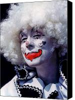 Clown Canvas Prints - Clown Canvas Print by Gary Dow