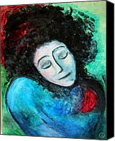 Woman Painting Canvas Prints - Clown Canvas Print by Gun Legler