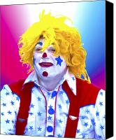 Terry Digital Art Canvas Prints - Clown Canvas Print by Terry Anderson