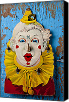 Peeling Canvas Prints - Clown toy game Canvas Print by Garry Gay