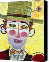 Diane Fine Canvas Prints - Clowning Around Canvas Print by Diane Fine