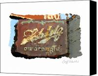 Blatz Beer Canvas Prints - Club Tap Sign Canvas Print by Geoff Strehlow