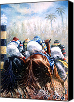 Pdjf Canvas Prints - Clubhouse Turn at Gulfstream Canvas Print by Thomas Allen Pauly