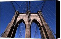 Brooklyn Bridge Canvas Prints - Cnrg0409 Canvas Print by Henry Butz