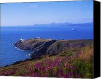 Public Transportation Canvas Prints - Co Dublin, Howth Head, Baily Lighthouse Canvas Print by The Irish Image Collection
