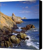 Ocean Front Landscape Canvas Prints - Co Dublin, The Bailey Lighthouse Canvas Print by The Irish Image Collection 