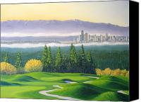 Golfing Canvas Prints - Coal Creek Canvas Print by Patrick Parker