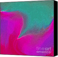 Merging Digital Art Canvas Prints - Coalescence Canvas Print by ME Kozdron