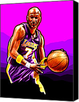 Los Angeles Lakers Canvas Prints - Coast to Coast Canvas Print by Jack Perkins