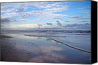Topsail Island Canvas Prints - Coastal Reflections Canvas Print by East Coast Barrier Islands Betsy A Cutler