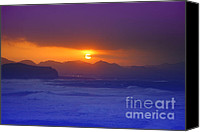 Azoren Canvas Prints - Coastal sunset Canvas Print by Gaspar Avila