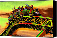 Steal Canvas Prints - Coaster fun in the Florida sun Canvas Print by David Lee Thompson