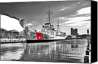Pier Canvas Prints - Coastguard Cutter Canvas Print by Scott Hansen