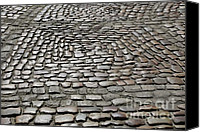 Brussels Canvas Prints - Cobblestones Canvas Print by Carol Groenen