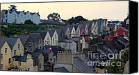 Cork Line Canvas Prints - Cobh Ireland Row Houses Canvas Print by David D Cummings