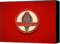 Ford Hot Rod Canvas Prints - COBRA Emblem Canvas Print by Mike McGlothlen