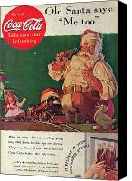 Father Christmas Digital Art Canvas Prints - Coca Cola 1936 Canvas Print by Nomad Art And  Design