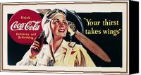 Bottle Cap Canvas Prints - Coca-cola Ad, 1941 Canvas Print by Granger