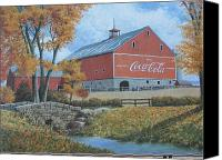 Collectibles Canvas Prints - Coca Cola Americana Canvas Print by Jake Hartz