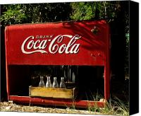 Soda Canvas Prints - Coca-Cola Canvas Print by Carol Milisen