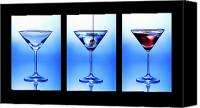 Pub Canvas Prints - Cocktail Triptych Canvas Print by Jane Rix